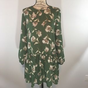   Green and Floral Top